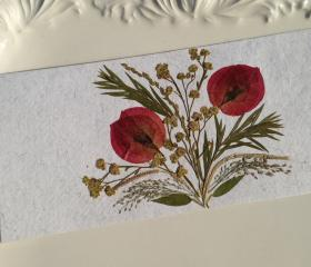 Bouganvilla - Handmade Pressed Flowers Card