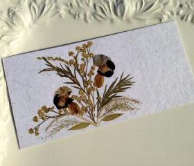 Purple Pansies - Handmade Pressed Flowers Card