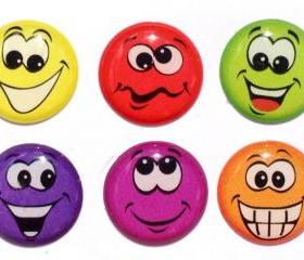 Goofy Faces - 6 Piece Home Button Stickers for Apple iPhone, iPad, iPad Mini, iTouch