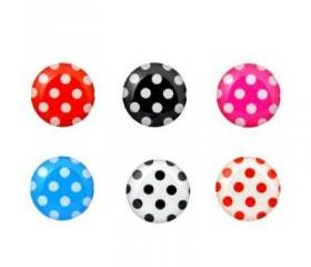 Polka Dots - 6 Piece Home Button Stickers for Apple iPhone, iPad, iPad Mini, iTouch